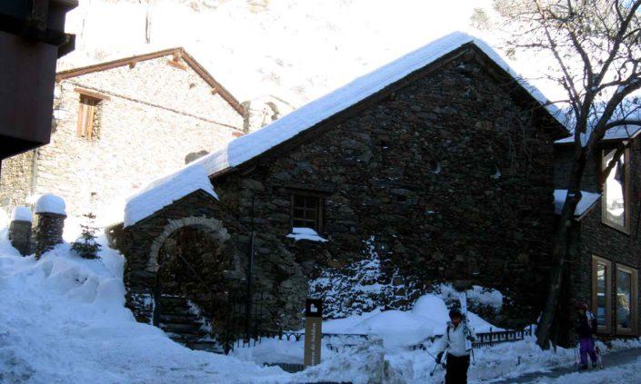 El pueblo de Soldeu en invierno