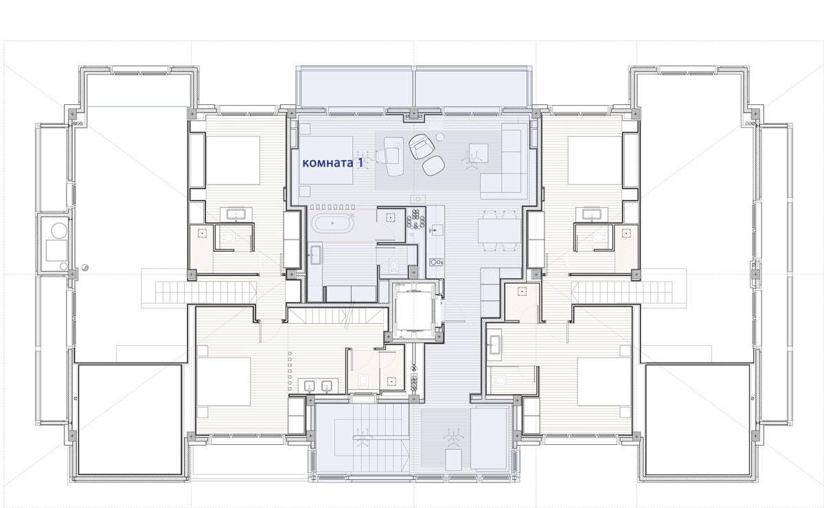Hermitage Mountain Residences Этаж 5 Резиденции 120 кв.м