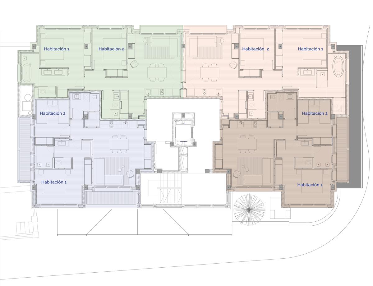 Hermitage Mountain Residences Planta 2 Residencias de 120 m2