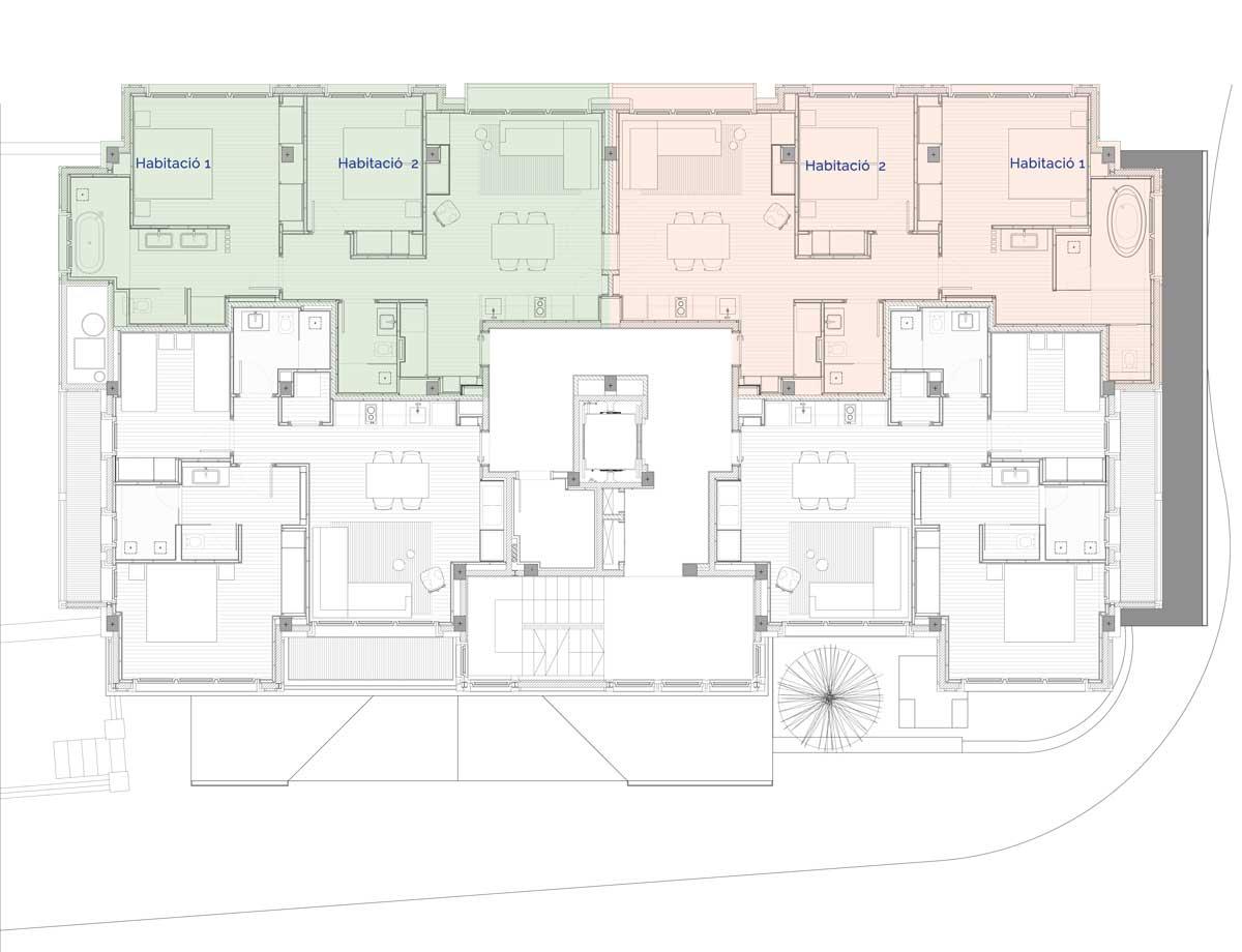 Hermitage Mountain Residences Planta 2 Residències de 240 m2