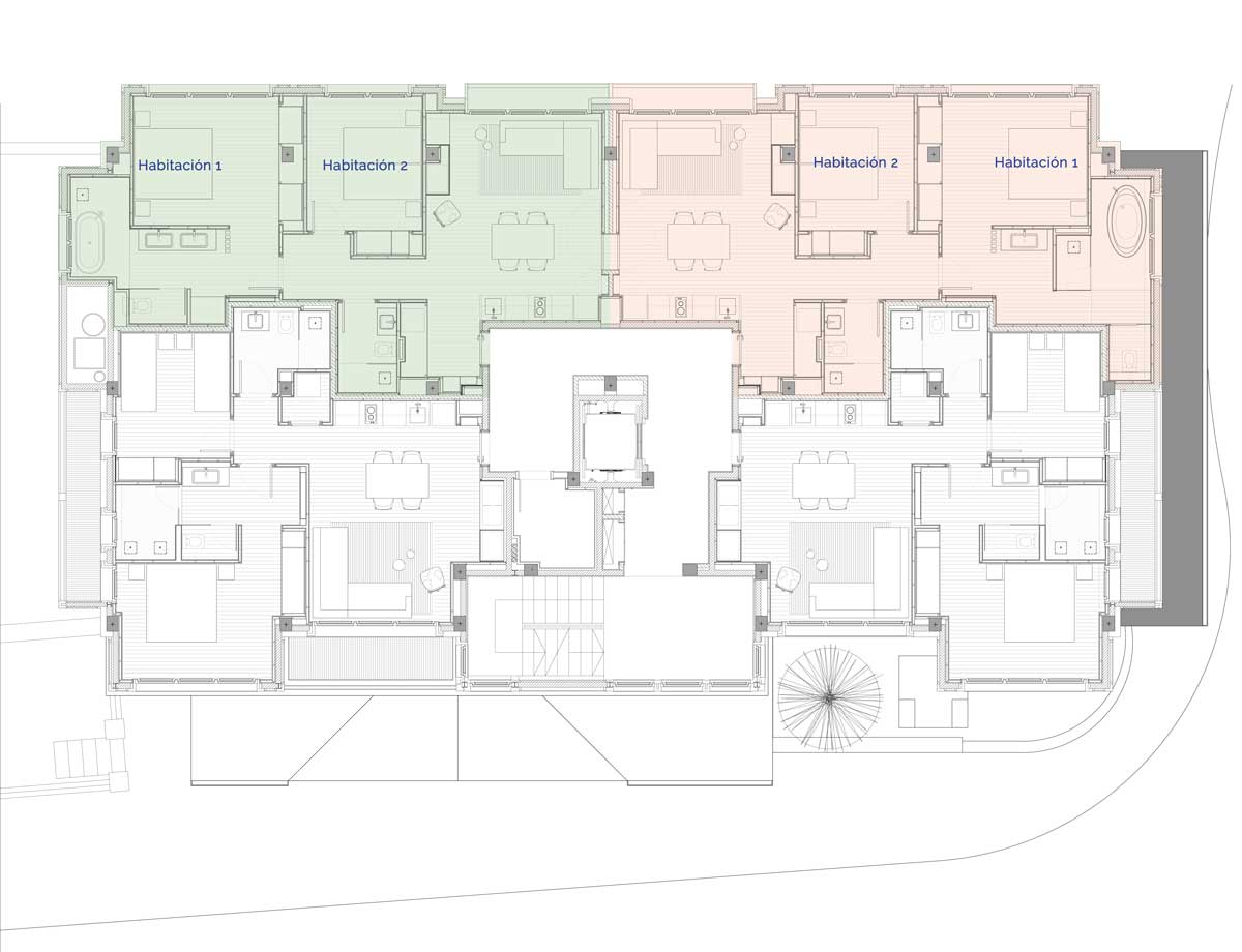 Hermitage Mountain Residences Planta 2 Residencias de 240 m2