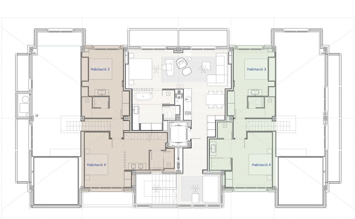 Hermitage Mountain Residences Planta 4 Planta Superior Residències Dúplex 250 m2