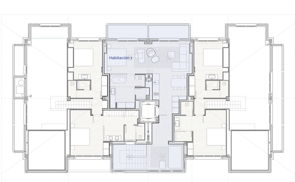 Hermitage Mountain Residences Planta 5 Residencia 120 m2 Penthouse