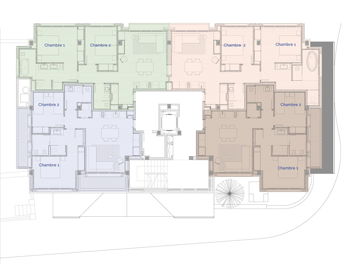 Hermitage Mountain Residences Etage 2 Résidences de 120 m2