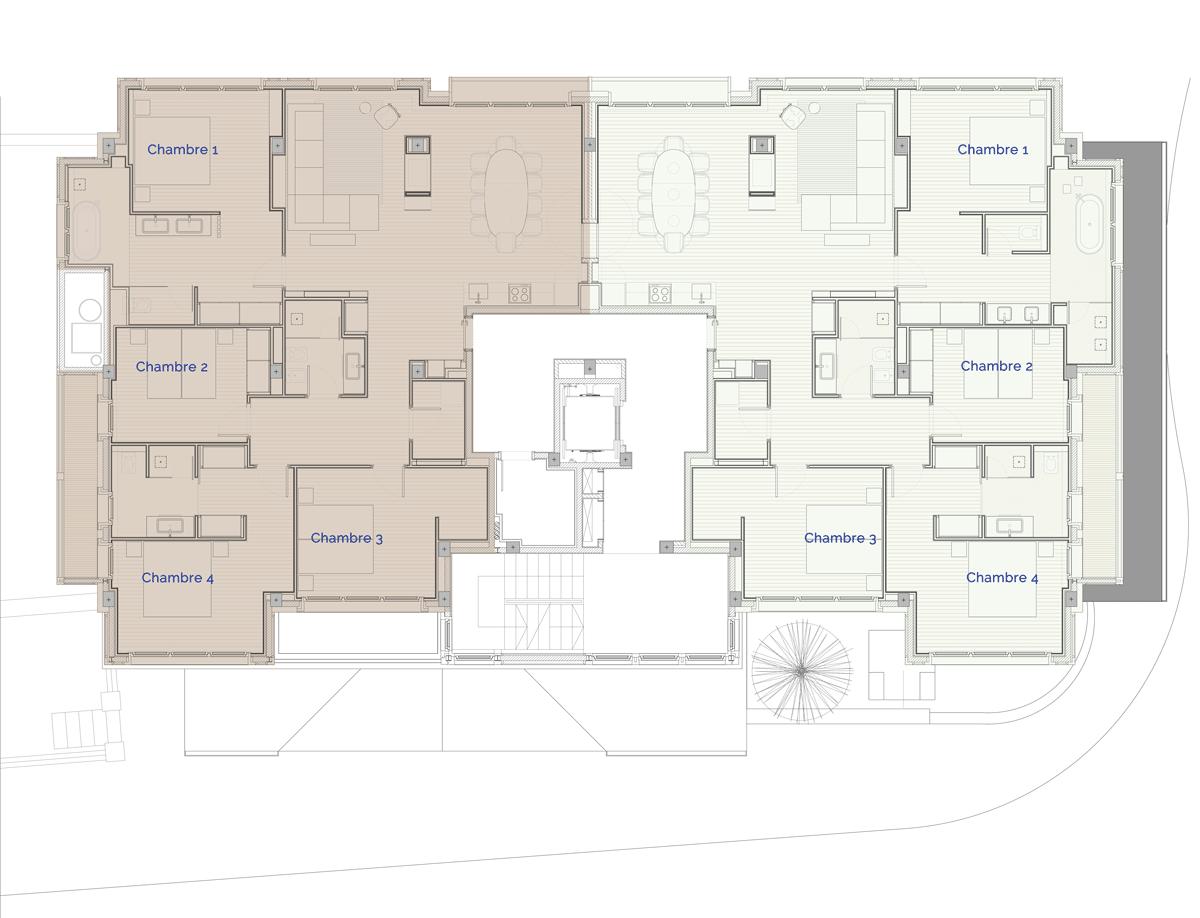 Hermitage Mountain Residences Etage 3 Résidences de 180 m2