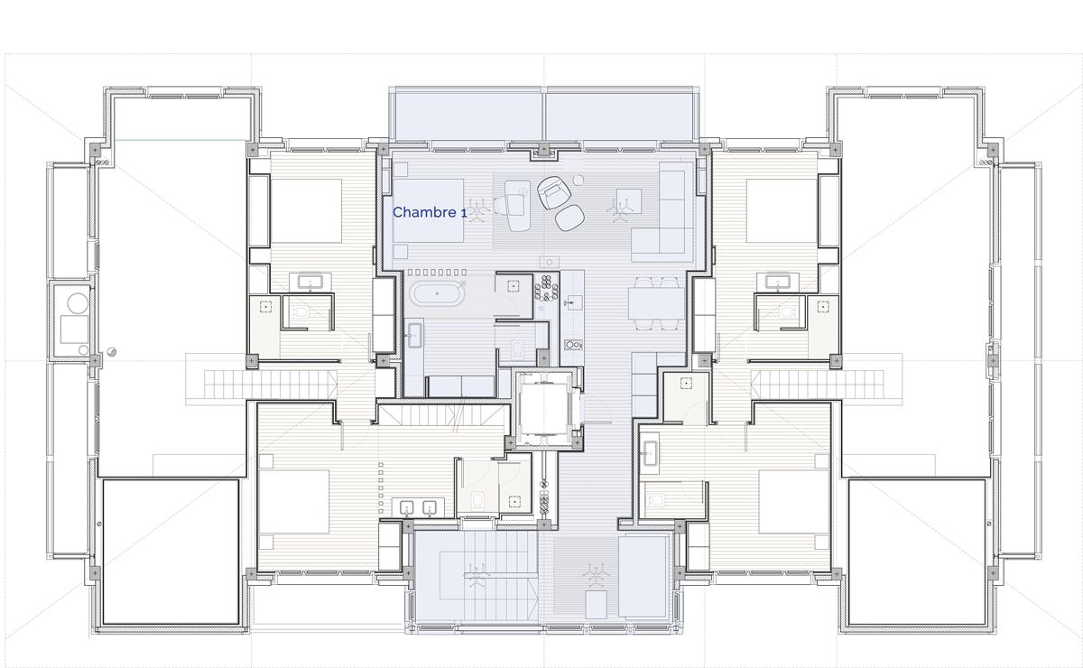 Hermitage Mountain Residences Etage 5 Résidences de 120 m2
