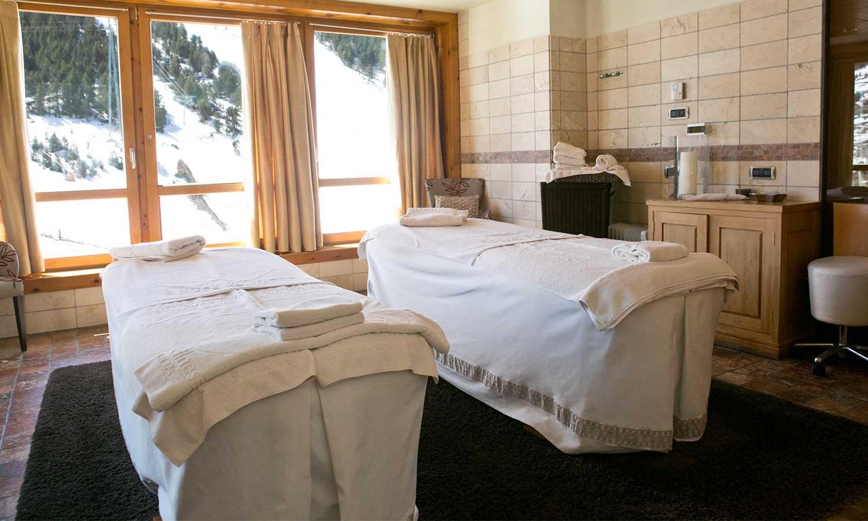 Hermitage mountain residences sport wellness mountain spa cabine de massage pour les couples - Salon de massage pour couple ...